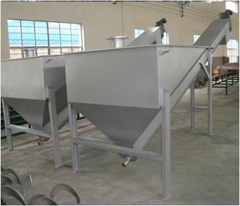 螺旋式砂水分离器用途用于污水处理厂旋流沉砂池将沉砂池排出的砂水混合液进行砂水分离.